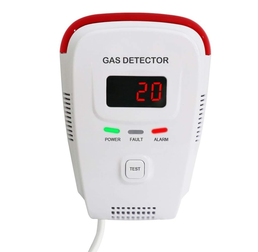 Natural Gas Detector/Gas Detectors Alarms/Home Gas Leak Alarm/Tester Sensor Combustible Gases: Propane,Methane,CH4, LPG,Butane,Coal Gas/Voice/LED Display/Explosive Gas Detector