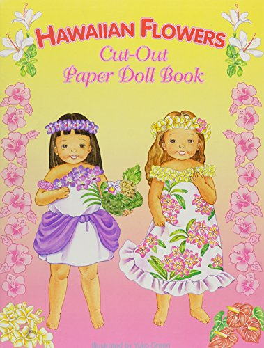 Hawaiian Flowers Paper Doll Book