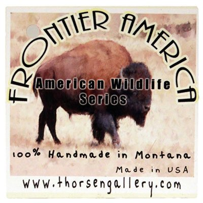 Gorgeous Sitting Bear Christmas Ornament Medallion Hanging Charm Key Chain Eric Thorsen Montana USA