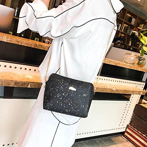 Bags Crossbody Bag Red Fashion Shoulder Sequins Womens Messenger Black Pocciol Pure Bag Color q1pTw