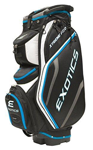 Tour Edge Exotics Extreme Pro Deluxe Cart Bag Men s, Exotics Extreme Pro Deluxe Cart Bag Black White Electric Blue