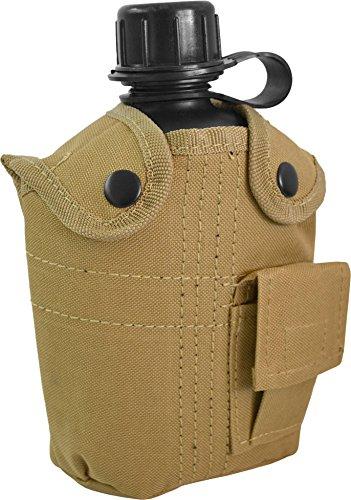 US Feldflasche mit Stoffbezug Army Style Farbe Coyote