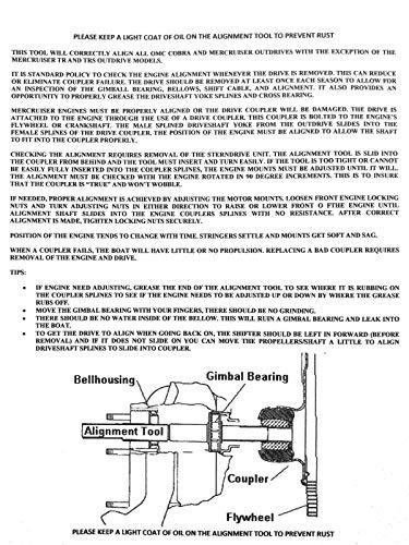 Mercruiser Gimbal Bearing Grease Seal Instal Tool Alpha Bravo Pre OMC Cobra