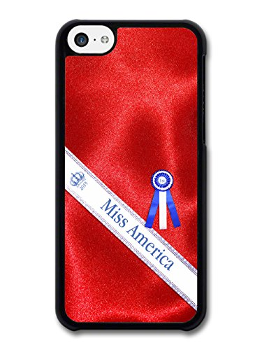 Miss America Parody Fashion Design on Red Dress coque pour iPhone 5C