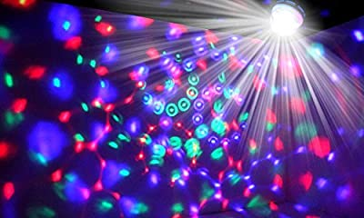 Kocaso Rotating LED Strobe Bulb (Multi changing Color Crystal Stage Light, Dance Party Club Bar LED)