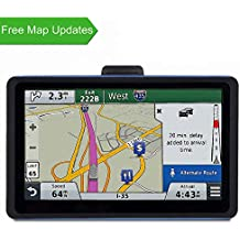 GPS Navigation for Car, 7 inches 8GB Lifetime Free Map Update Spoken Turn-to-Turn Navigation System for Cars, Vehicle GPS Navigator