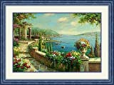 """Seaside Gazebo"" by Anonymous - Framed Artwork"
