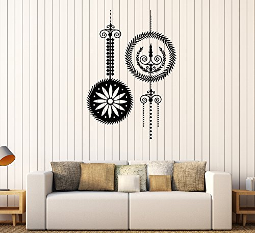 - Vinyl Wall Decal Chandelier Candles Light Lighting Room Art Stickers Mural (312ig) Burgundy
