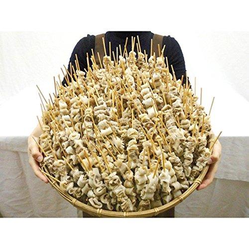 """中国産 """"牛すじ串(メンブレン)"""" 小サイズ 160~220本前後 約4kg おでんやどて焼き、煮込み料理に!(冷凍便)"""