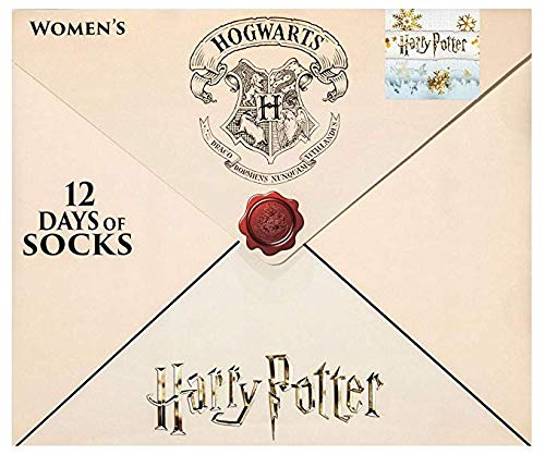 Hogwarts Letter 12 Days of Socks Women's Harry Potter Advent Calendar