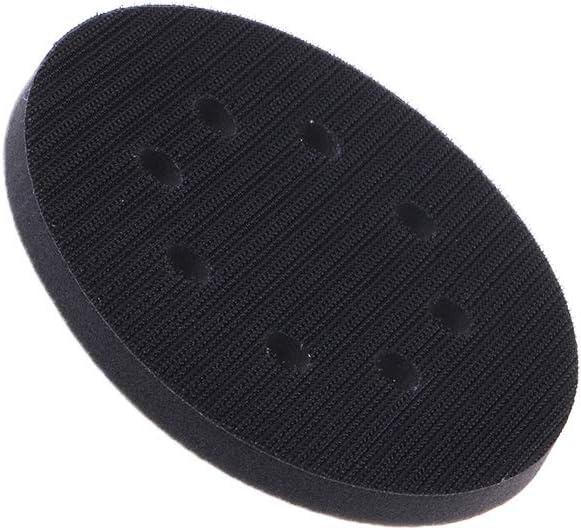 BIlinli Tampon dinterface en /éponge Douce de 5 Pouces pour disques de pon/çage Disques /à poncer /à Boucles et /à Crochets pour Outils de Polissage de Surfaces in/égales Accessoires 8 Trous