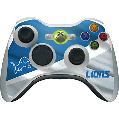 Skinit NFL Detroit Lions Xbox 360 Wireless Controller Skin - Detroit Lions Design - Ultra Thin, Lightweight Vinyl Decal Protection by Skinit