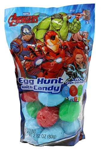 Frankford Candy Company Avengers Embossed Plastic Candy Egg