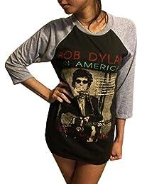Unisex Bob Dylan T-Shirt 3/4 Sleeve Baseball