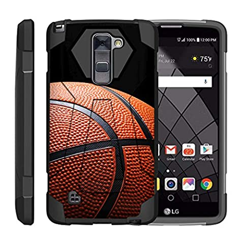 TurtleArmor   LG Stylus 2 Case   LG G Stylo 2 Case   Stylo 2 V [Dynamic Shell] Dual Hybrid Hard Absorber Impact Silicone Cover Kickstand Sports Video Games Design - Basketball (Lg Dynamic 2 Phone Case Camo)