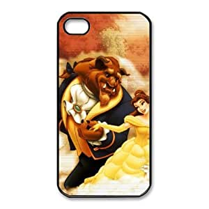 iphone4 4s Black phone case Disney Cartoon Comic Series Beauty and the Beast QBC3081348