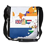 Flag Map Of South Africa Convenient Unisex Messenger Handbag
