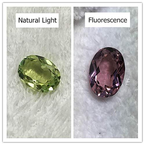 Calvas Oval Shape Alexandrite Loose Stone Green red Faceted Created Gemstone Beads Jewelry Making DIY Phenomenal lab gem Stones - (Item Diameter: 6X8mm)