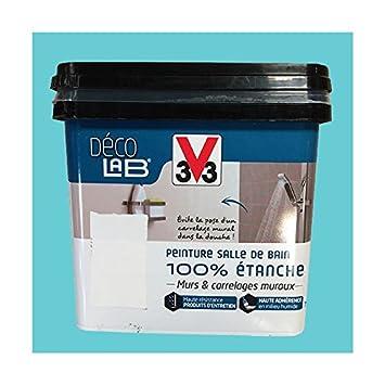 V33 Déco Lab Peinture Salle De Bain 100 Etanche Bleu Dété Amazon
