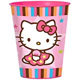 Hello Kitty 16-Ounce Plastic Party Cup, Balloon Dreams, Party Supplies