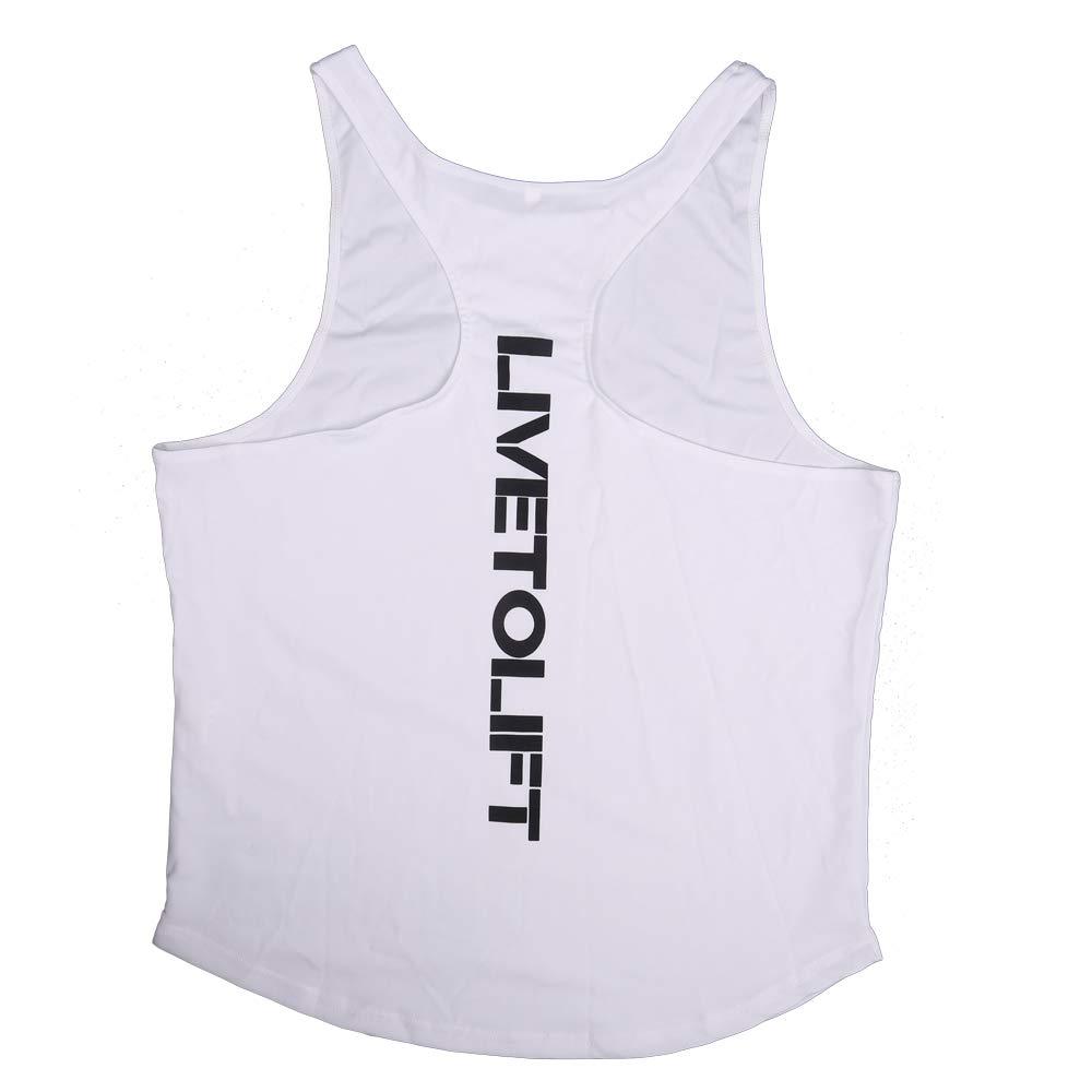 Voydsunflower Mens Muscle Gym Stringer Tank Tops Bodybuilding Fitness T-Shirts