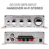 Stylishbuy Multichannel Amplifiers Car Stereo 2 Channels Stereo Amplifier DC12V Support CD/DVD/MP3 Input