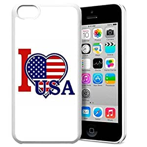 America Flag Design Pattern HD Durable Hard Plastic Case Cover for iPhone 5 5s