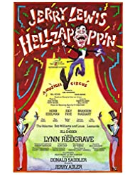 """Jerry Lewis""""HELLZAPOPPIN"""" Lynn Redgrave/Joey Faye 1976 Musical FLOP Washington, D.C. Tryout Flyer"""