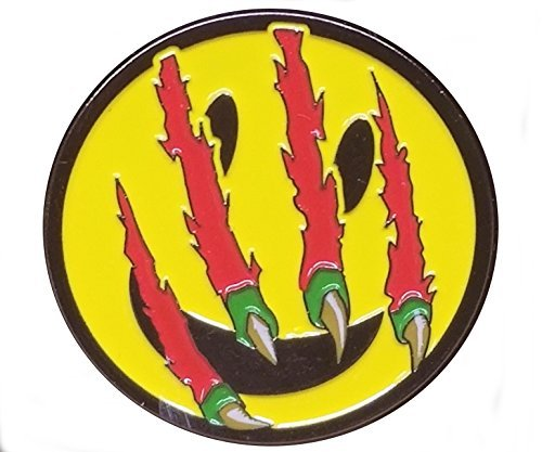 Primal Rage Have A Nice Day Lapel / Hat / Cloisonne / Festival Pin Clawed Smiley Face