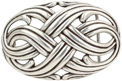 Brazil Lederwaren Gürtelschnalle Aversa 4,0 cm | Buckle Wechselschließe Gürtelschließe 40mm Massiv | Für Wechselgürtel bis zu 4cm Breite