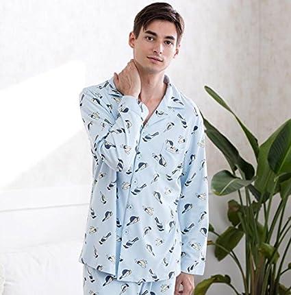 MH-RITA otoño y el invierno marca Mens, pijamas, mangas largas, impresión
