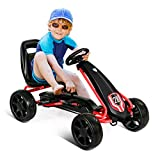 Costzon Pedal Go Kart, Pedal Powered Kids Ride on Car Toy, Children's 4