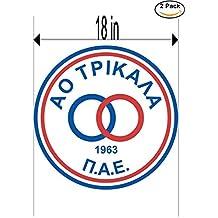 CanvasByLam AO Trikala Greece Soccer Football Club FC 2 Stickers Car Bumper Window Sticker Decal Huge 18 inches