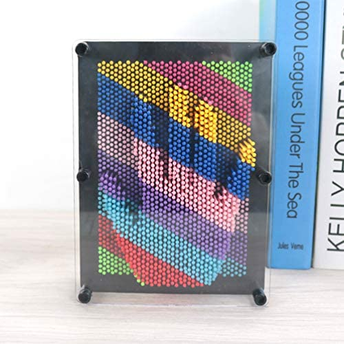 Colorful Healifty Plastic 3D Pin Art Sculpture Hand Pin Art Board Toy for Kids Inspire Imagination Challenge Sense Educational Toys for Children Size Small