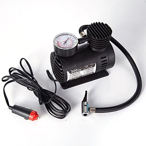 homozy 12V Car Electric Mini Air Compressor Pump Bike