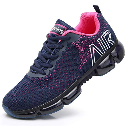 Reabo Womens Air Tennis Running Shoes Lightweight Jogging Training Walking Fitness Sport Athletic Sneaker Violet 8.5 B(M) US