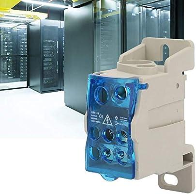 Caja de conexiones de riel DIN, caja de distribución del bloque de terminales Conector de cable eléctrico Caja de conexión de alimentación universal Caja para carcasa eléctrica: Amazon.es: Industria, empresas y ciencia