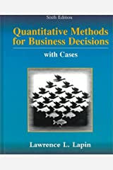 Quantitative Methods for Business Decisions with Cases Hardcover