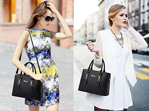 Donna Exull Blue Grande Borse Bag Sacchetto Spalla A Viaggio Tote Capacità Pelle Pu 92336 Mano Per Shopper Shopping Lavoro Borsa Ufficio frwfqEg1