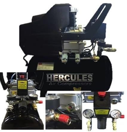 Compresor Hercules 24 LT 2 HP 8 bar 1500 W lubrificato Aceite 2 manometri
