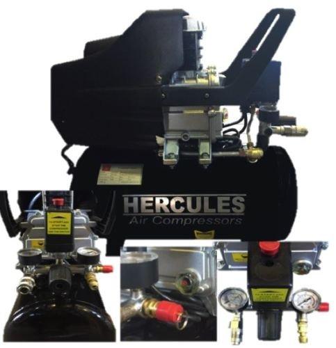 COMPRESSORE HERCULES 24 LT 2 HP 8 BAR 1500 W LUBRIFICATO OLIO 2 MANOMETRI elettroferro