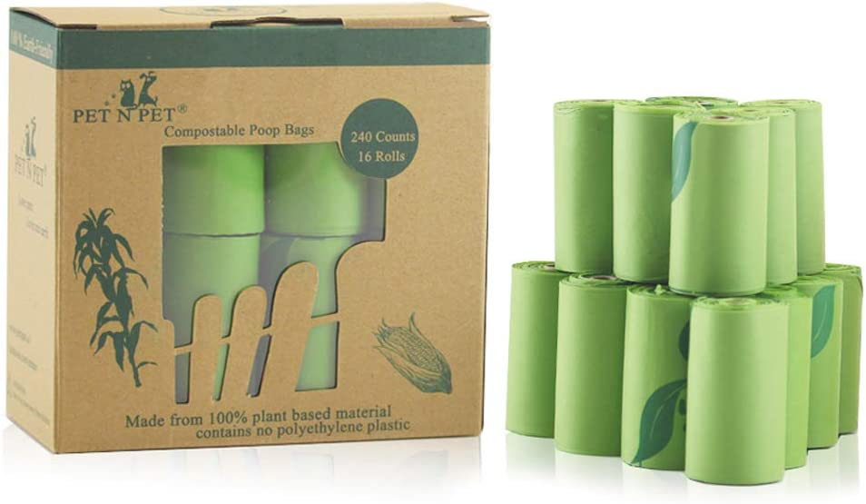 """324 Eco-friendly Poop Bags Earth Friendly Dog Poo Bags 18 Thick Doggy Bags Per Roll. 18 Rolls 9/"""" x 13/"""" Large Strong Biodegradable Poop Bags Lavender Scented"""