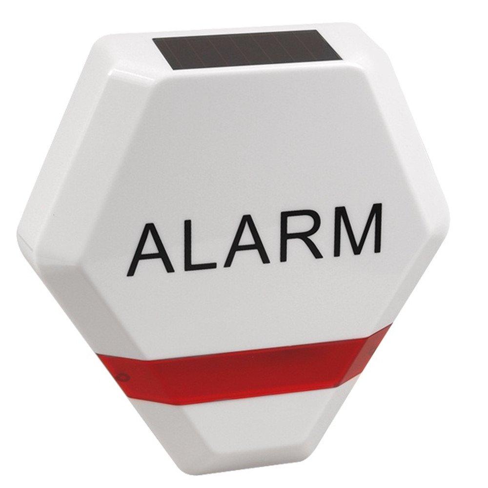 Maclean - Sirena de Alarma Falsa simulada diodos led Intermitentes Panel Solar vigilancia product image