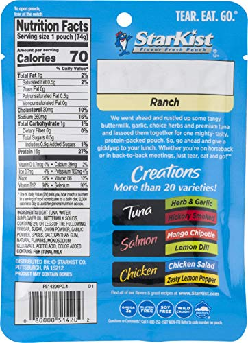 StarKist Tuna Creations Ranch - 2.6 oz Pouch (Pack of 12)