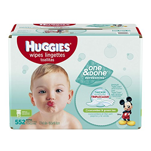 UPC 036000431971, Huggies One & Done Refreshing Baby Wipes Refill, 552 Count