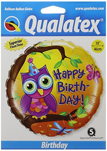 (PIONEER BALLOON COMPANY B'day Owl Foil Pack, 18