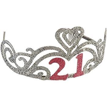 Glitter 21st Birthday Tiara
