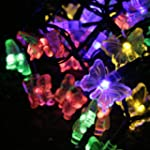 30 Multi Coloured LED Butterfly Solar...