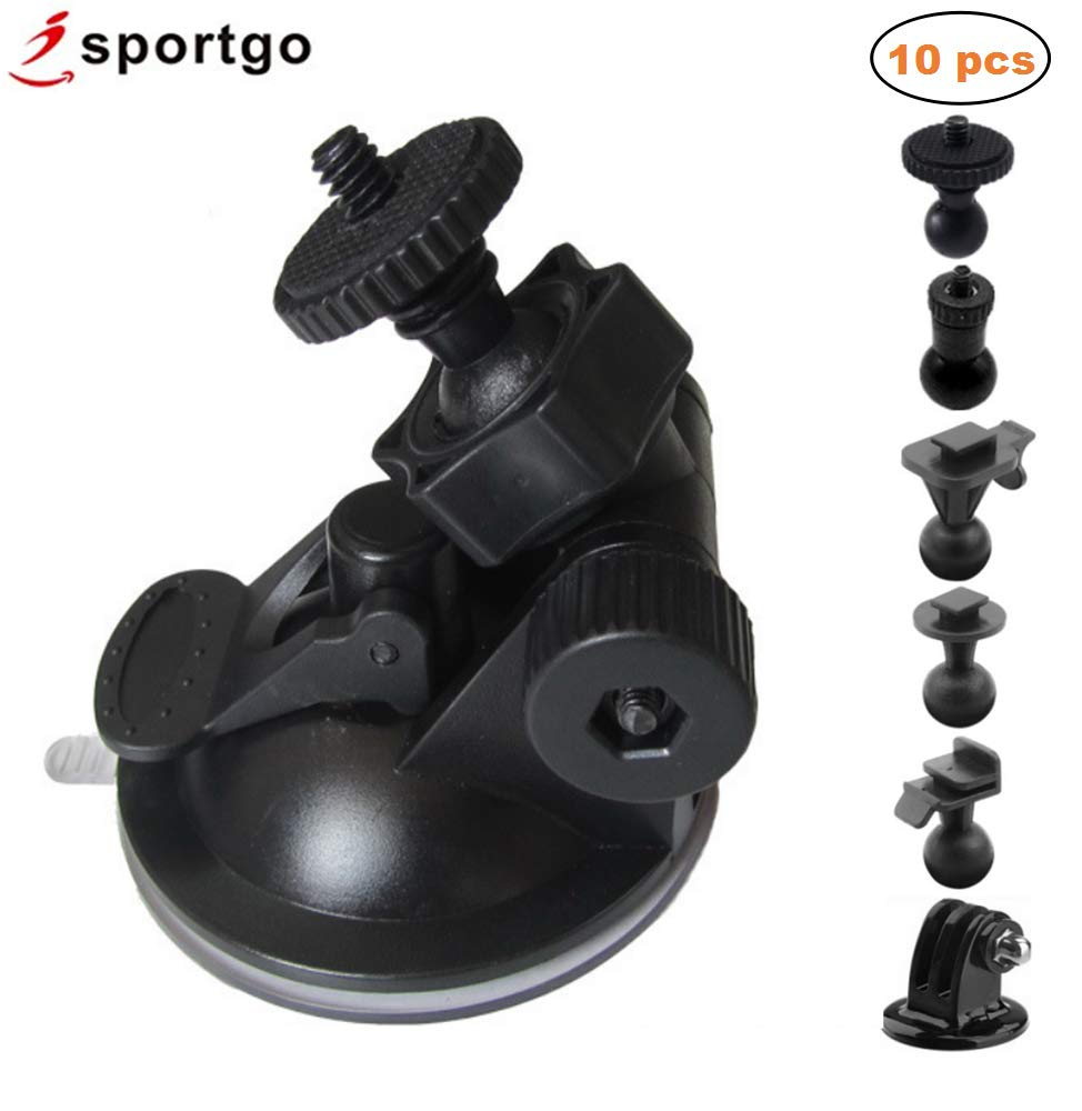 iSportgo S30 Dash Cam Suction Mount with 5 Different Joints Kit for Z-Edge, Old Shark, YI,KDLINKS X1,Falcon Zero F170HD and Most Other Dash Cameras DVR GPS