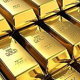 Gold Bullion Door Stopper, Fake Gold Bar Paperweight Shiny Gold Door Stop Heavy Duty Door Wedge for Home Office
